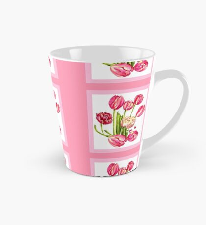 9 bunches of Pink Tulip Flowers by Kristie Hubler Tall Mug
