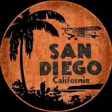 Vintage San Diego California decal by midcenturydave