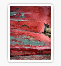Red Stairs Curved Steps Painted Concrete Sticker