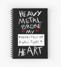 Fall Out Boy Centuries - Heavy Metal Broke My Heart Spiral Notebook