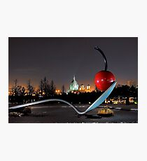 Saint Marys Basilica through the Spoonbridge Photographic Print