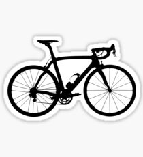 Bike black big sticker