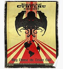 Cthulhu For World Overlord Poster