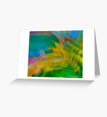 Abstract Palm Art Greeting Card