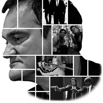 Quentin Tarantino collage by AgustiLopez