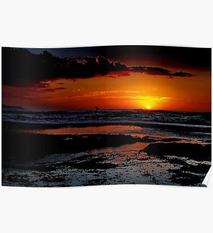 """Sunrise Surfer"" Poster"