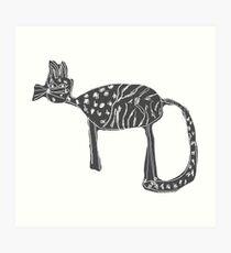 Katzen Liebe Kunstdruck