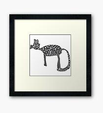 Katzen Liebe Gerahmtes Wandbild