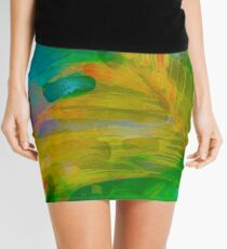Abstract Palm Art Mini Skirt