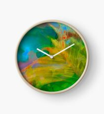 Abstract Palm Art Clock