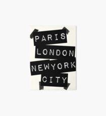 Lámina de exposición PARIS LONDRES CIUDAD DE NUEVA YORK