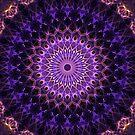 Mandala in dark blue and pink tones by JBlaminsky