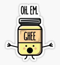 Oh Em Ghee - Funny Desi Puns Sticker