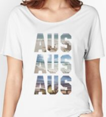 AUS AUS AUS Women's Relaxed Fit T-Shirt