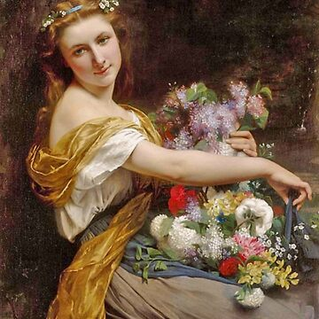 Pierre Auguste Cot Dionysia, paintings for sale, springtime, spring, flower girl, classical, Bouguereau, Cabanel, Cogniet, french, Academic Classicism, Academicism, neoclassicism, romanticism by designteam