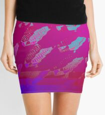 Fuchsia Abstract Mini Skirt
