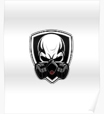 GAS MASK SKULL WITH SHIELD Poster