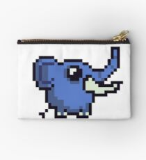 blue elephant Pixel Art Studio Pouch
