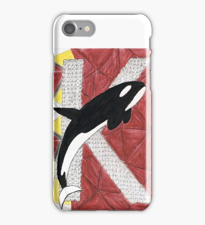 K is for Killer Whale iPhone Case/Skin