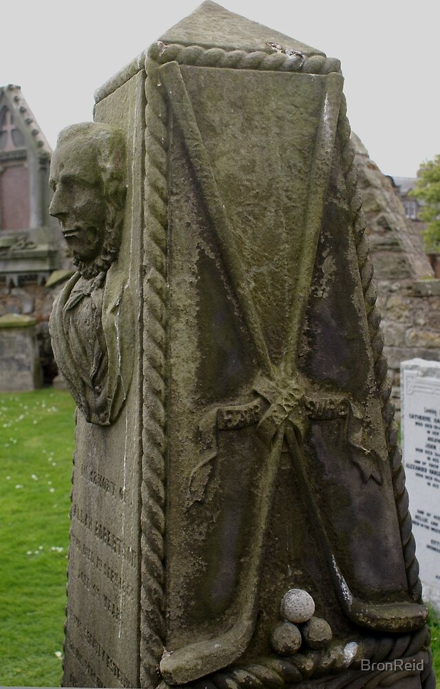 St Andrews Cathedral graveyard, Scotland by BronReid