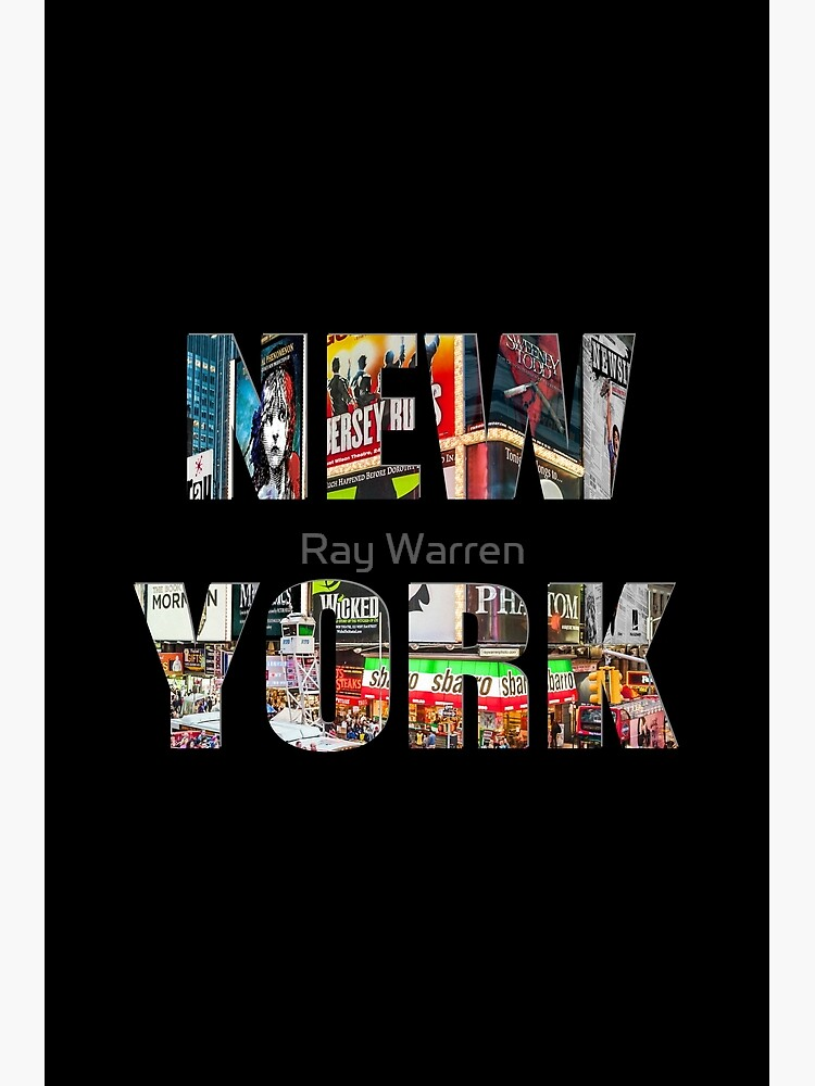 New York (colour photo type on black) by RayW