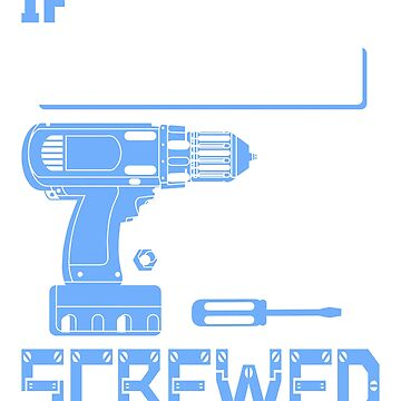 If Clifford Can't Fix it We're All Screwed Stencil Blue by grouppixel