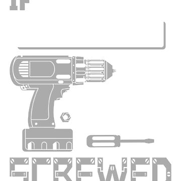 If Clifford Can't Fix it We're All Screwed Stencil Grey by grouppixel