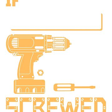 If Clifford Can't Fix it We're All Screwed Stencil Yellow by grouppixel