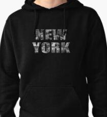 New York (black & white photo type on black) Pullover Hoodie