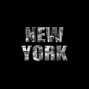 New York (3D black & white photo type on black) by RayW