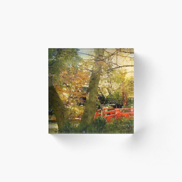 In a Japanese Garden Acrylic Block
