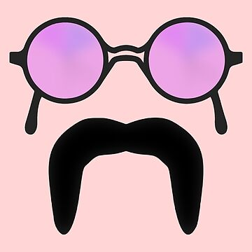 Rose Colored Glasses and  Mustache by Gravityx9