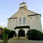 Small Town Swedish Catholic Church by Helen Purdy