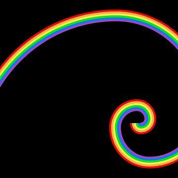 Fibonacci Rainbow by SymbolGrafix