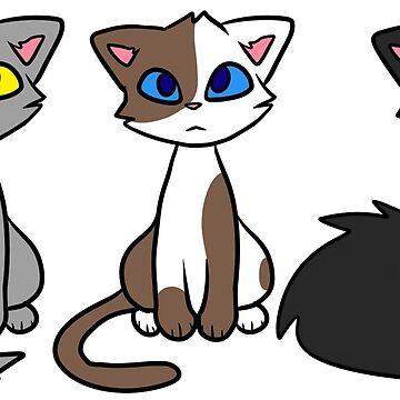 Darktail and his siblings by Draikinator
