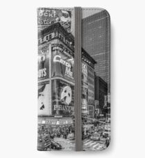 Times Square III (special finale edition - black & white) iPhone Wallet/Case/Skin