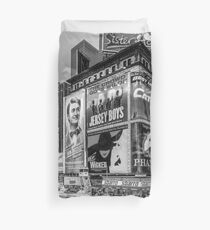 Times Square III (special finale edition - black & white) Duvet Cover