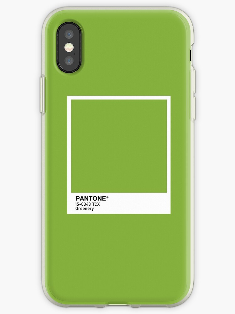 purchase cheap add5e f5ab5 'Greenery Pantone' iPhone Case by scultura