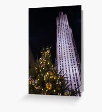 Rockefeller Center other tree Greeting Card
