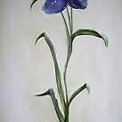 Blue Flower by Lynsey Cleaver