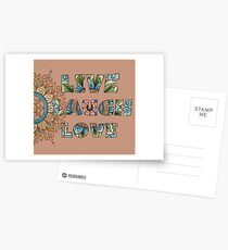 Live, Laugh, Love - Words to Live By Postcards