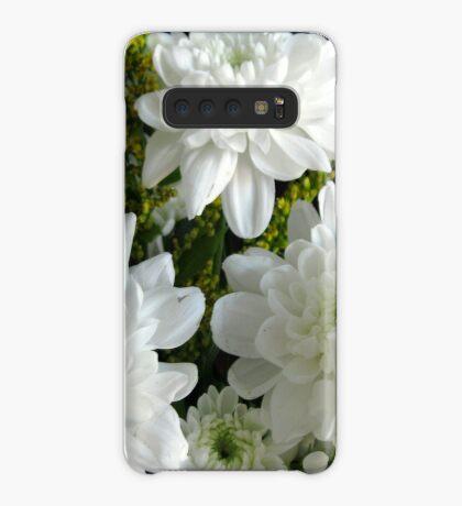 Reinheit - weiße Hyazinthe und Dahlien Hülle & Klebefolie für Samsung Galaxy