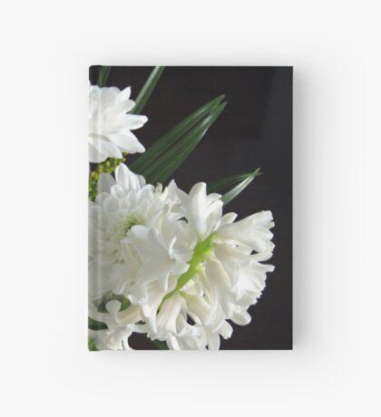 Reinheit - weiße Hyazinthe und Dahlien Notizbuch