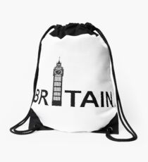Great Britain Drawstring Bag