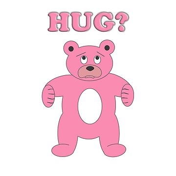 Sad Pink Bear - Hug? by sruhs