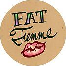 Fat Femme Tattoo (Round) by Alex Heberling