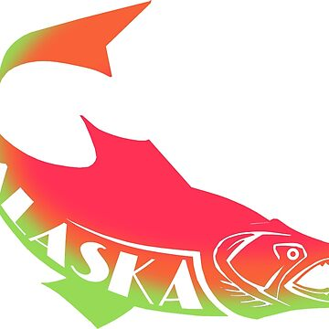 ALASKA SALMON ~ cups, mugs, scarves, leggings and more by EDROMAXIMUS
