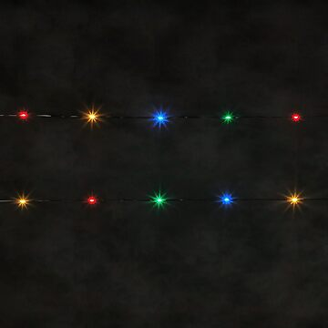 Decorative String Lights On Black Background by taiche