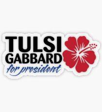 Tulsi Gabbard for President 2020 Transparent Sticker