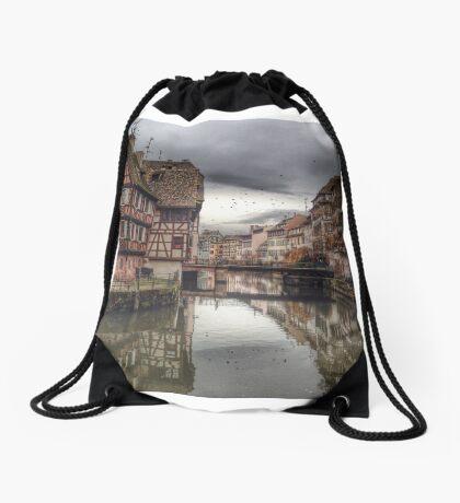 Petit France, Strasbourg Drawstring Bag